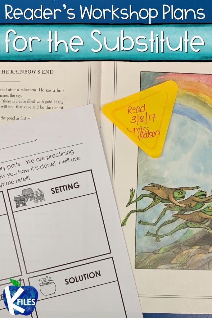 This is a simple and effective quick fix to writing substitute teacher plans for your Reader's Workshop. Simply include a story map in your Sub Tub and have your substitute teacher choose a read aloud from an anthology and discuss the story elements! Read more for ideas of stand alone lessons for your substitute teacher.