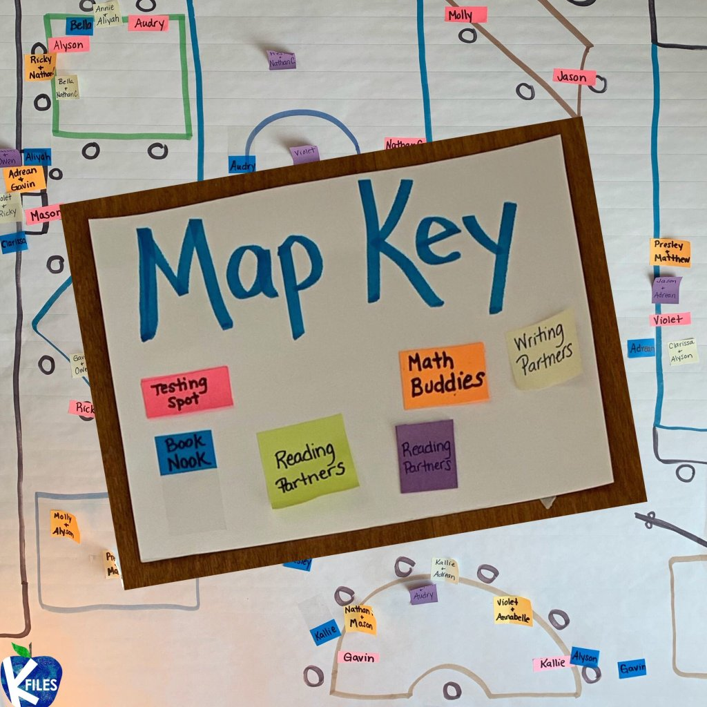 Creating a classroom map is a great tool to help manage classroom procedures throughout the day. I'm sure that your students buddy up during workshops, math and have independent reading book nooks. Use this classroom management strategy in order to avoid any confusion, and debates as to whose spot is whose. You know the struggle! When this happens, send your students to the classroom map and voila...problem solved! #firstgrade