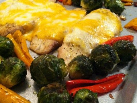 Baked Tilapia and Oven Roasted Veggies