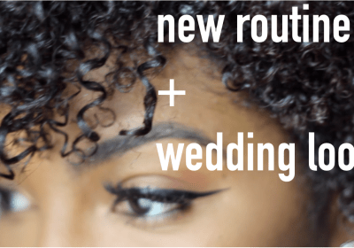 Wedding Look + My New Curly Hair Routine | hair