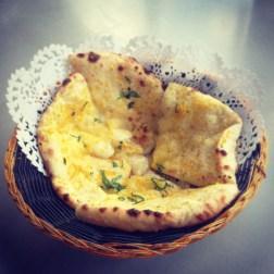 Cheese and Garlic Naan Bread