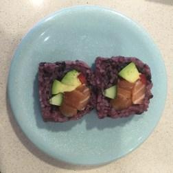 Brown Rice Salmon and Avocado