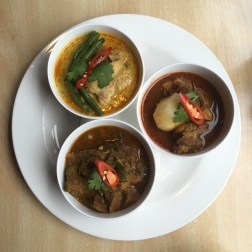 Chicken, Pork and Goat Curry