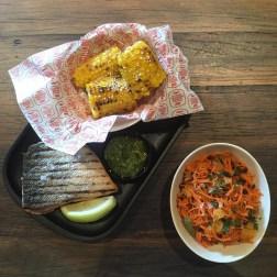 Ora King Salmon with Corn Cob and Moroccan Salad (1)