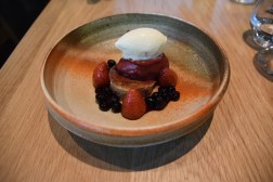 Grilled Berries with Ice Cream