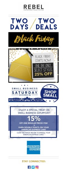 Black Friday/Small Business Email