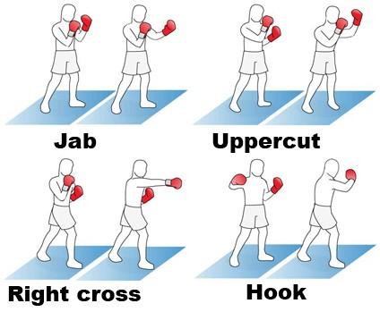 Jab, cross, hook, uppercut