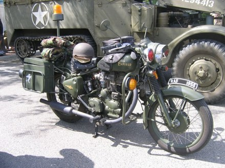 S Larson_WWII Motorcycle