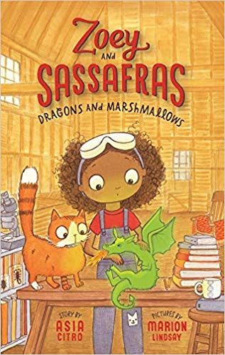 Dragons and Marshmallows (Zoey and Sassafras) - Featured on a book list of cat books for kids