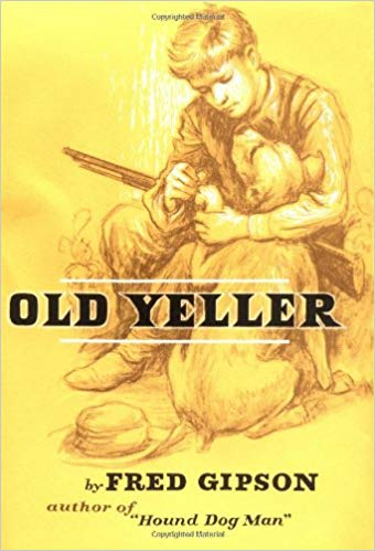 """""""Old Yeller"""" by Fred Gipson - children's books about dogs"""