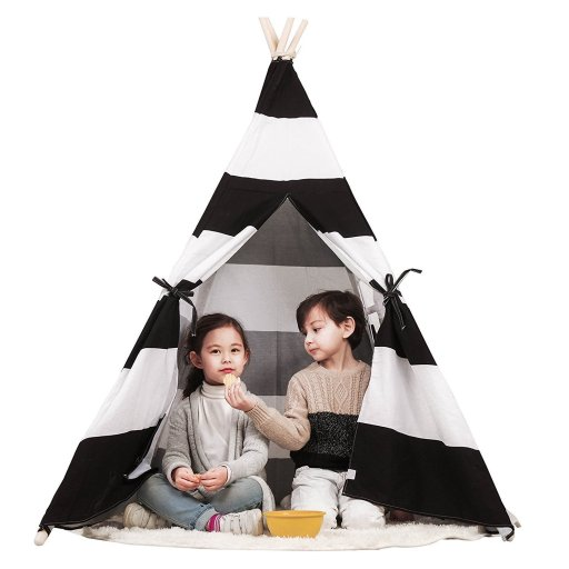 Toysland Indoor Indian Playhouse Teepee Tent for Kids, Toddlers Canvas with Carry Case