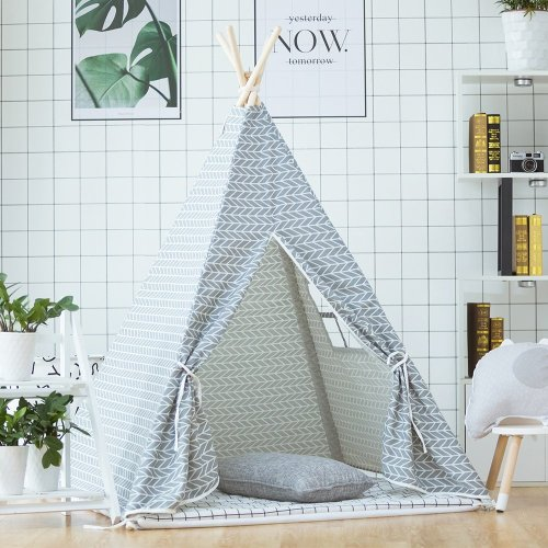 little dove Kid's Foldable Teepee Play Tent Total Package with Carry Case Fairy Lights Feathers