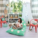 Butterfly Craze Stuffed Animal Storage Bean Bag Chair