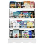 Homfa Kids Bookshelf, 4 Tier Children's Bookcase Rack