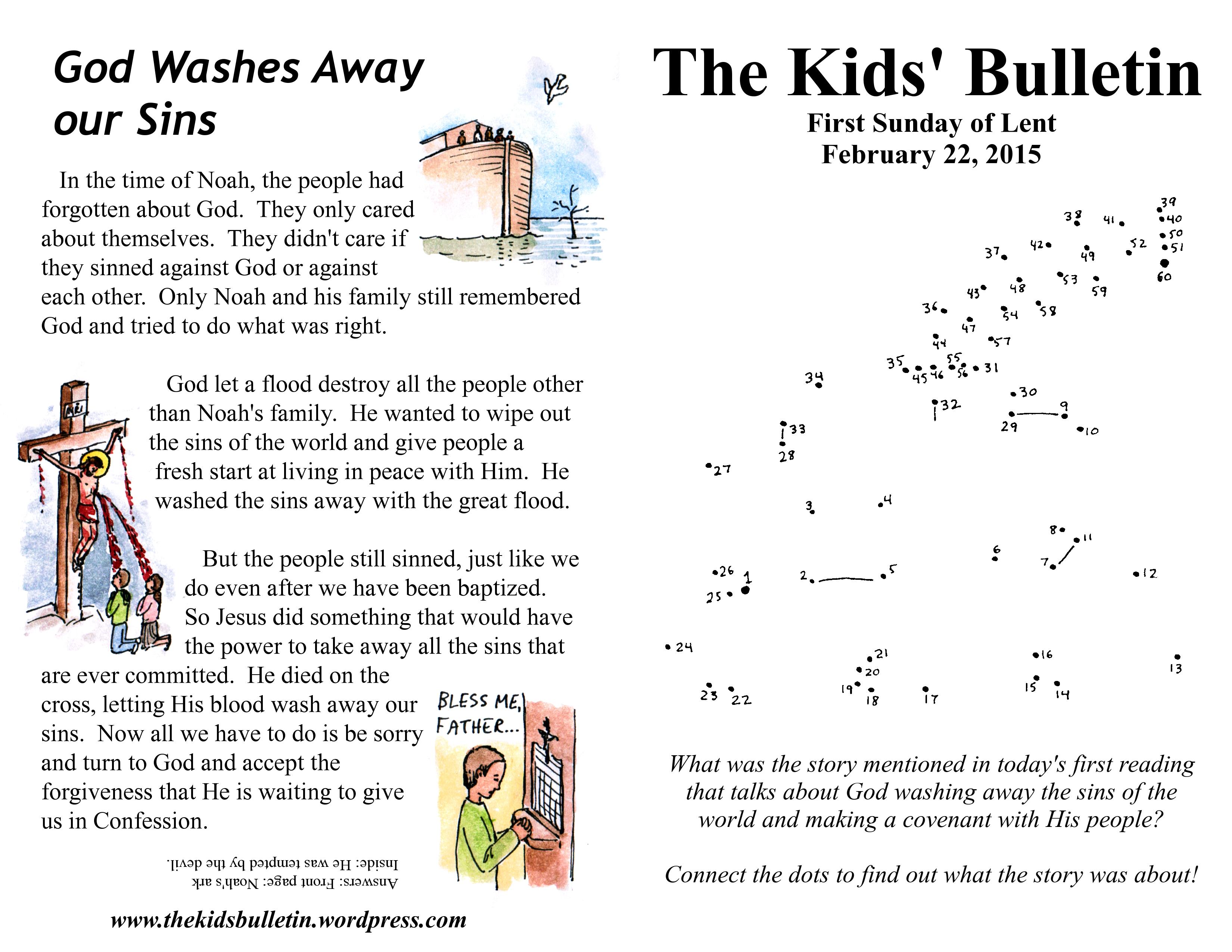 The Kids Bulletin Lent 1