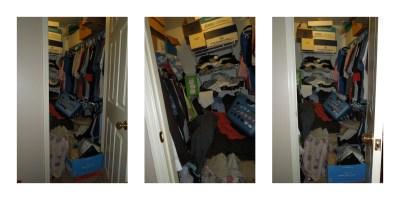 messy closet x 3