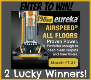 Eureka Vacuum Giveaway Image