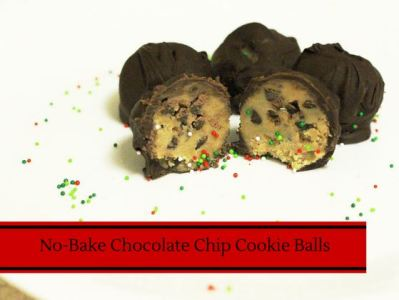 No Bake Chocolate Chip Cookie Dough Balls (12 Days of Desserts)