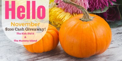 Hello November $200 Cash Giveaway Sign Ups