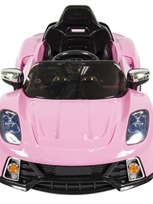 pink best choice products kids 12v electric ride on car with mp3