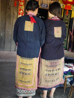 Vintage Yao dress from Vietnam