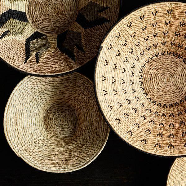 Geometric handmade baskets by Dara Artisans