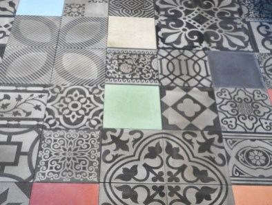 Charm of Cement collection tiles by Maingam Tiles at CMDW14
