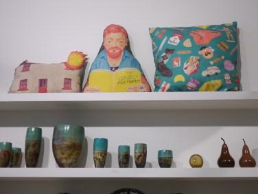 Sandra Eterovic cushions at Craft Victoria