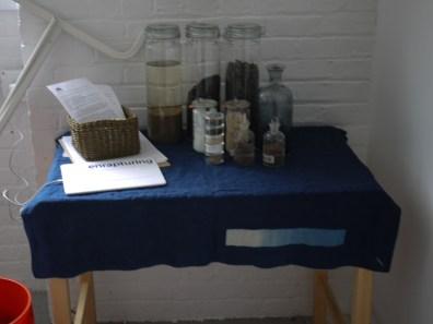 Materials sent from Japan: sukumo,ash lye, calcium hydroxide, and wheat bran