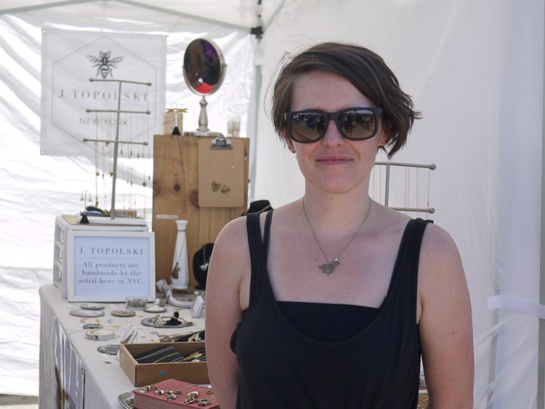 J. Topolski at Renegade Craft Fair, Brooklyn 2015