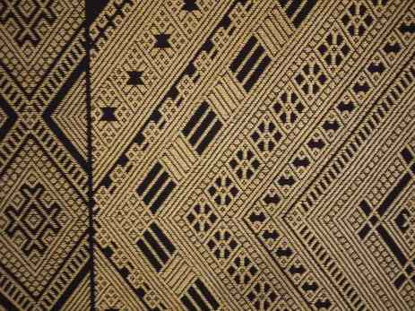 Detail of a quilted tapestry with