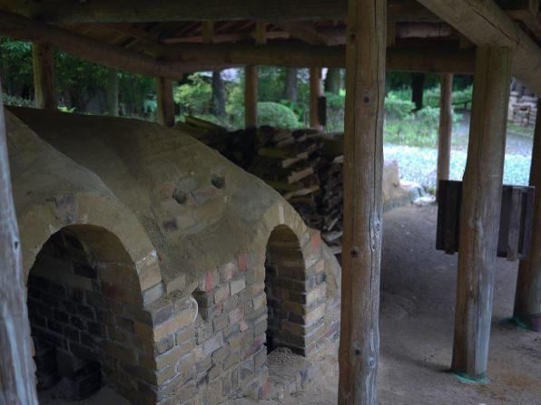 Kilns at Shoji Hamada's workspace