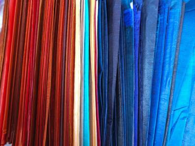 Starched silk paper