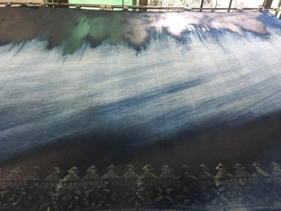 Painted indigo at Aranya – Handmade Textiles of Bangladesh