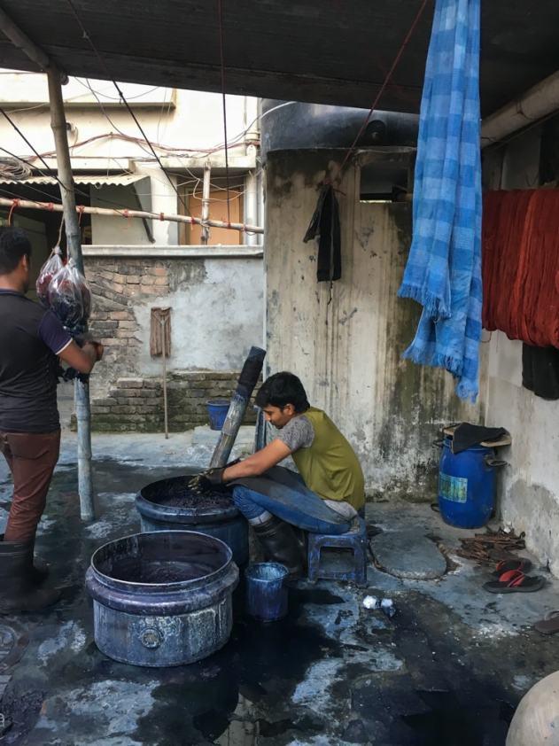 Indigo dyeing - Handmade Textiles Of Bangladesh