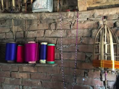 Benaroshi weaving treads and materials – Handmade Textiles of Bangladesh
