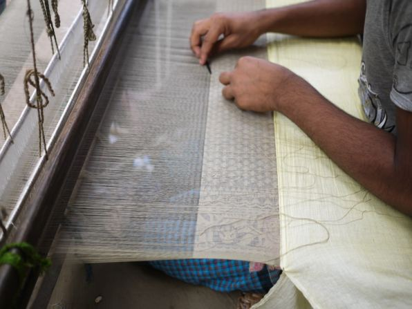 Jamdani weaver working – Handmade Textiles of Bangladesh