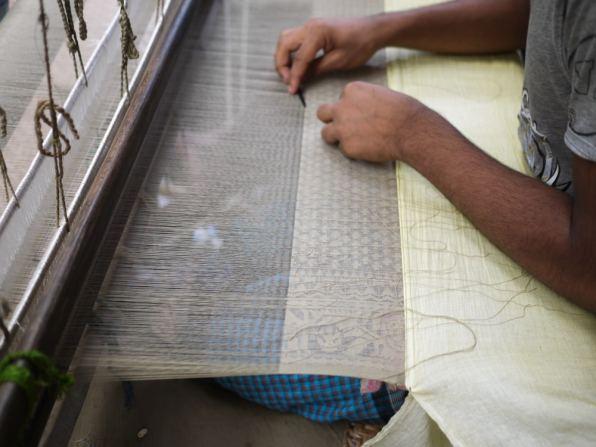 Jamdani weaver working – Handmade Textiles of Bangladesh