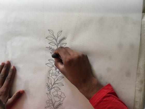 Detail of Uttara embroidery– Handmade Textiles of Bangladesh