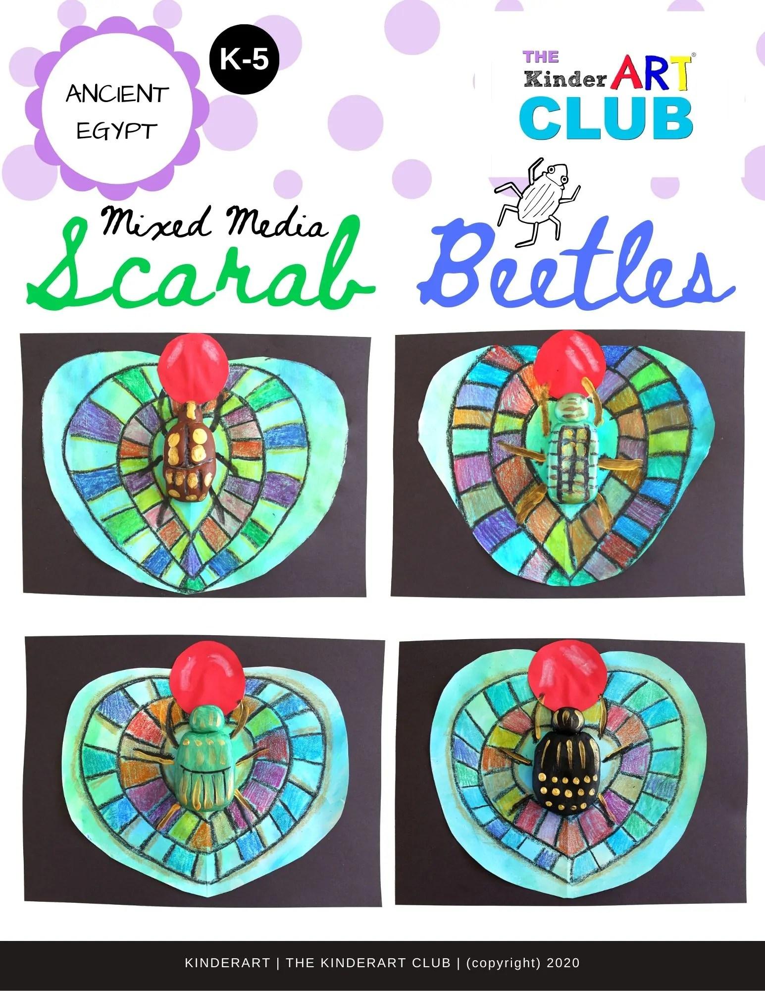 Lesson Mixed Media Scarab Beetles