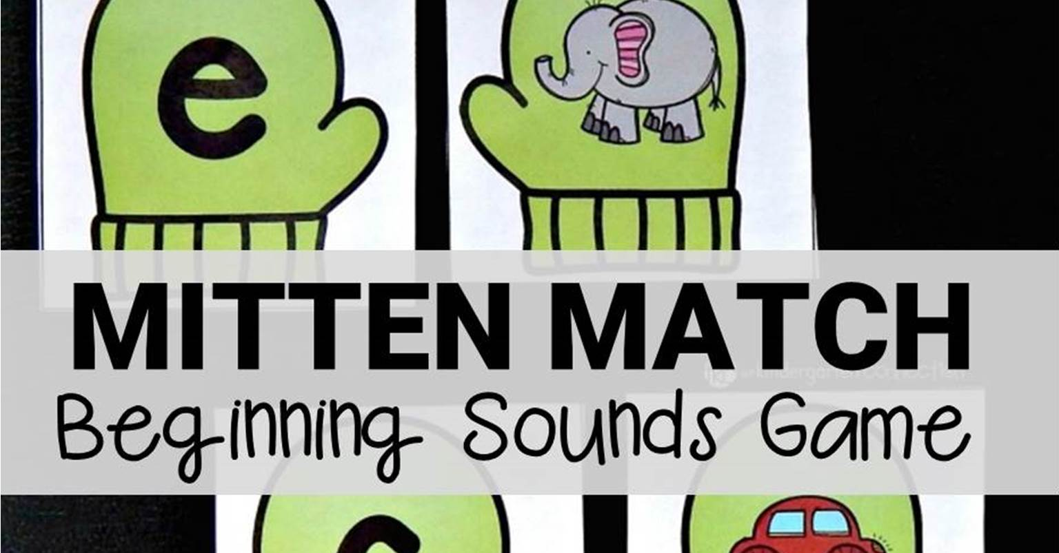 Free Printable Mitten Match Beginning Sounds Game