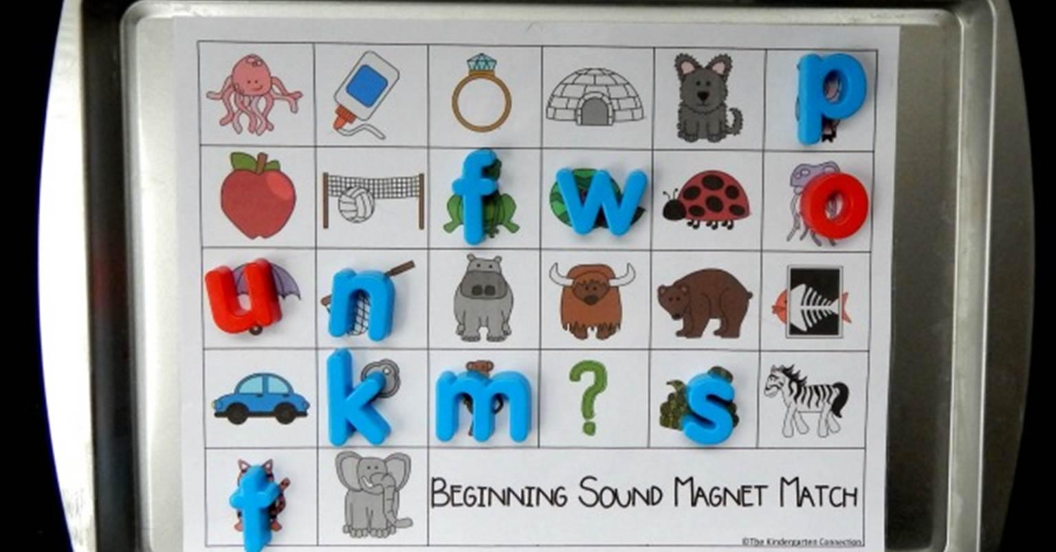 Alphabet Magnets Beginning Sound Match