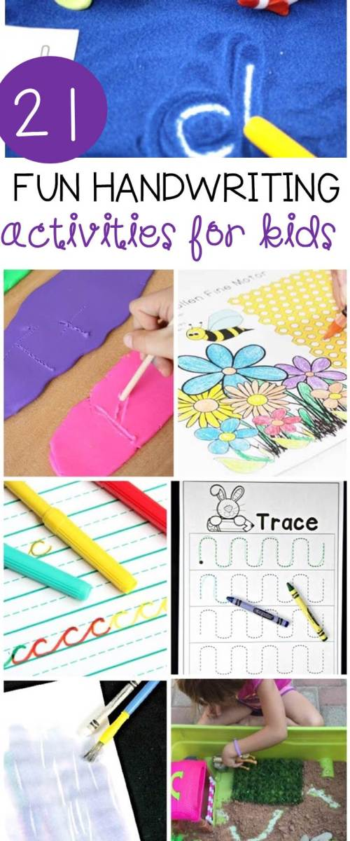 small resolution of 21 Fun Handwriting Activities for Kids - The Kindergarten Connection