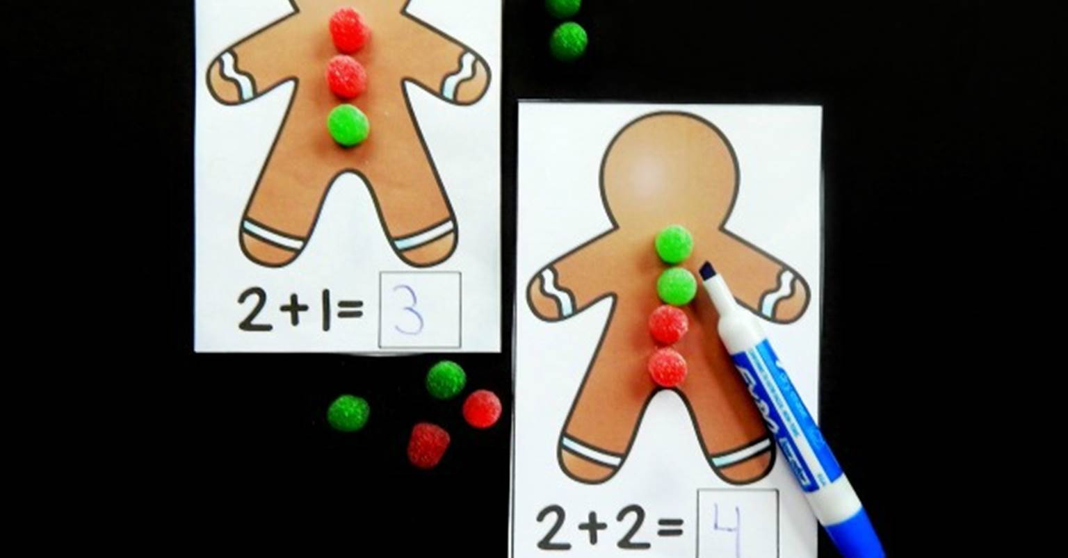 Free Printable Gingerbread Addition Mats