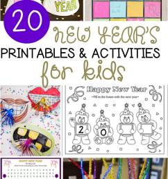 20 New Year's Activities for Kids - fun for classroom or home! [ 2400 x 1440 Pixel ]