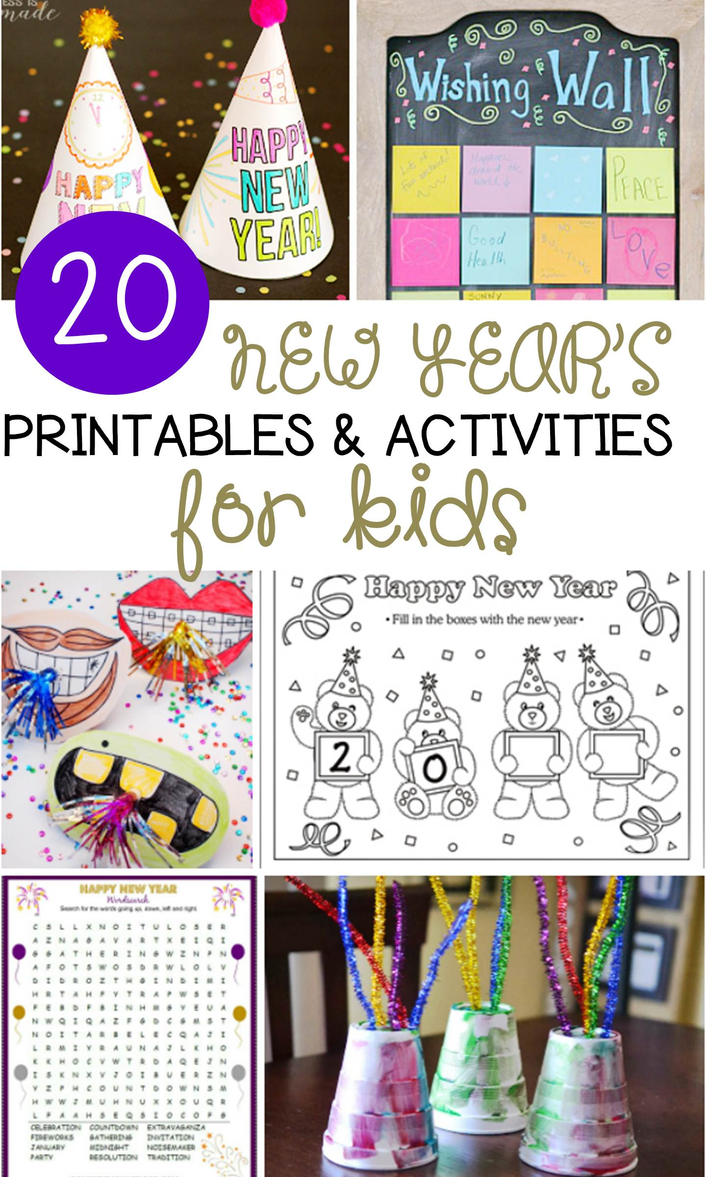 hight resolution of 20 New Year's Activities for Kids - fun for classroom or home!