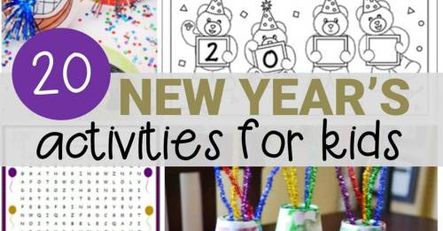 small resolution of 20 New Year's Activities for Kids - fun for classroom or home!