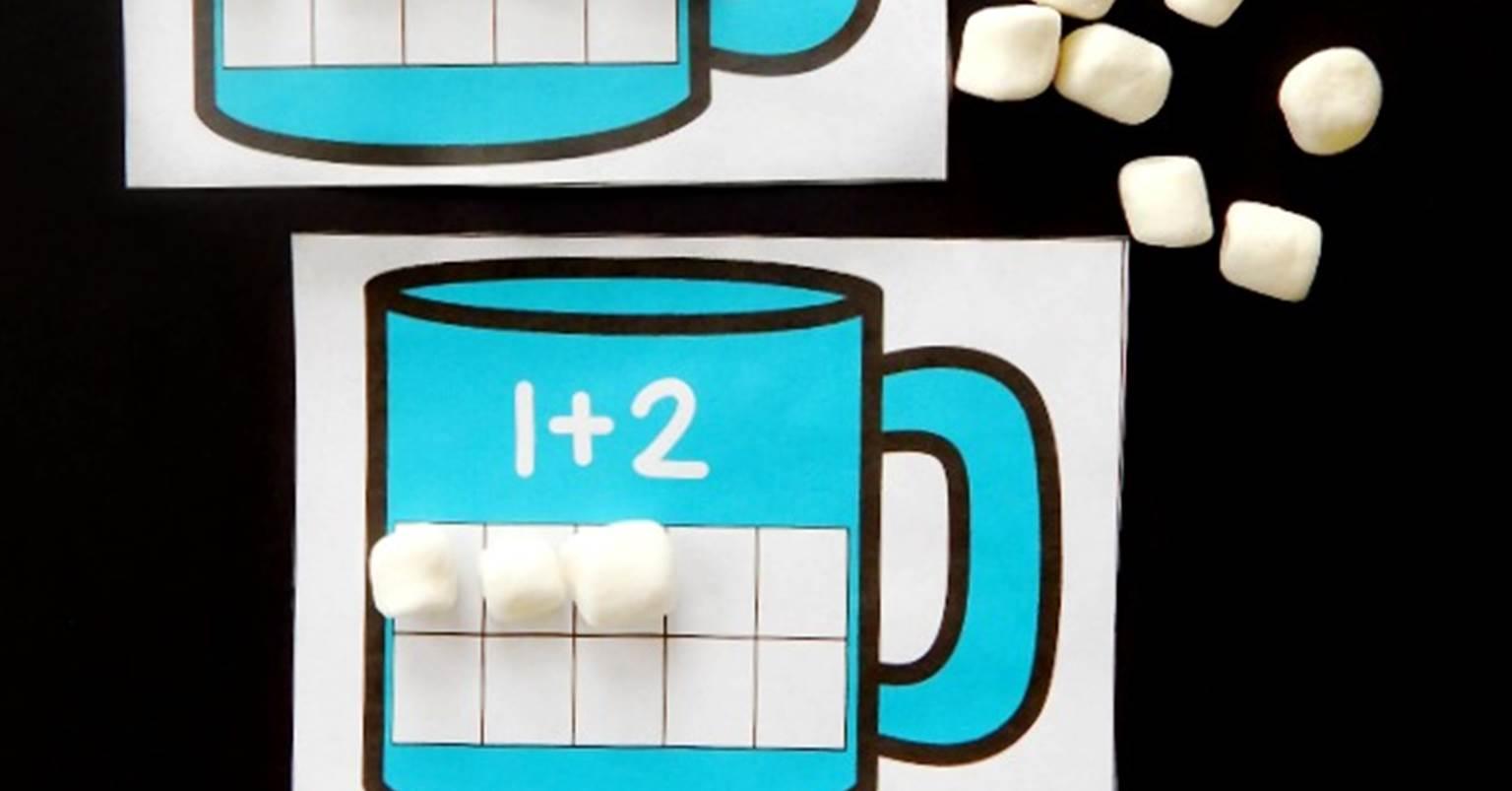 Hot Chocolate Ten Frame Addition