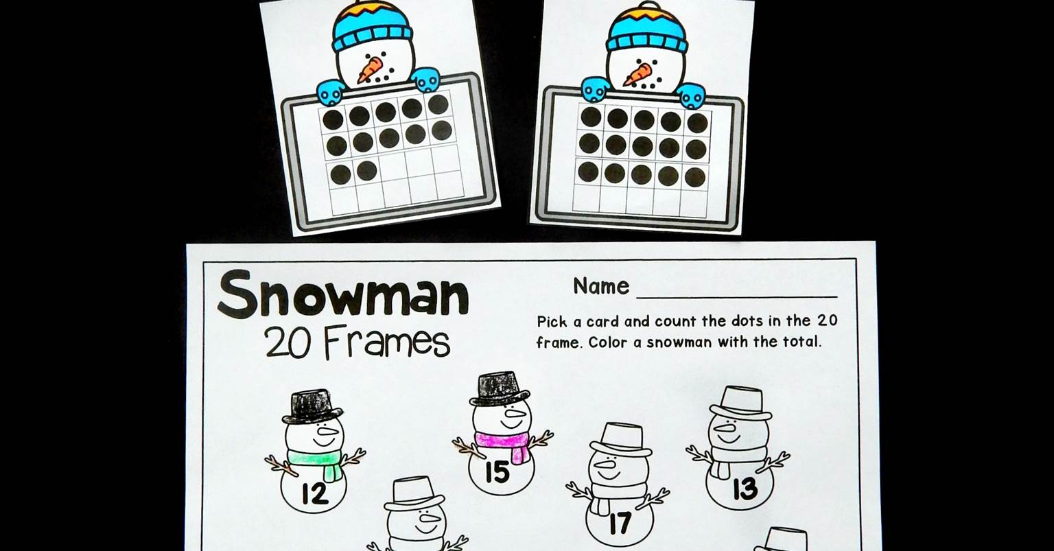 Snowman 20 Frames Math Game