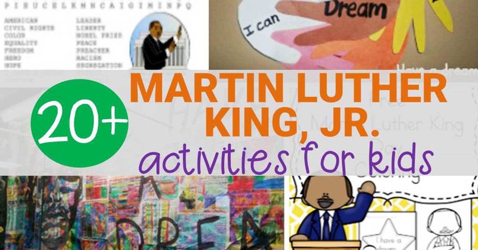 Martin Luther King Preschool Printable Worksheet